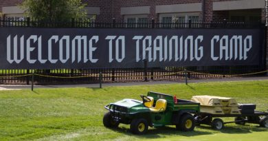Ravens training camp banner