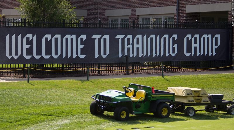 Ravens training camp banner