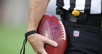 Ref holding football